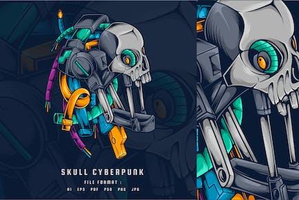 Schädel Cyberpunk