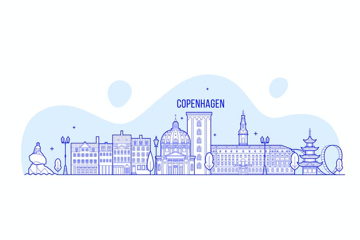 Thumbnail for Copenhagen skyline, Denmark