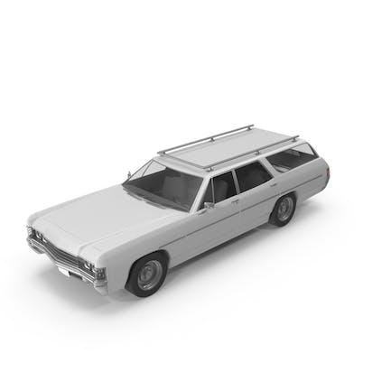 Винтажный автомобиль Белый