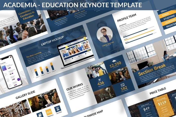 Thumbnail for Academia - Education Keynote Template