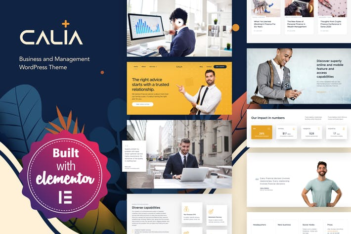 Thumbnail for Calia - Geschäft und Management WordPress Thema