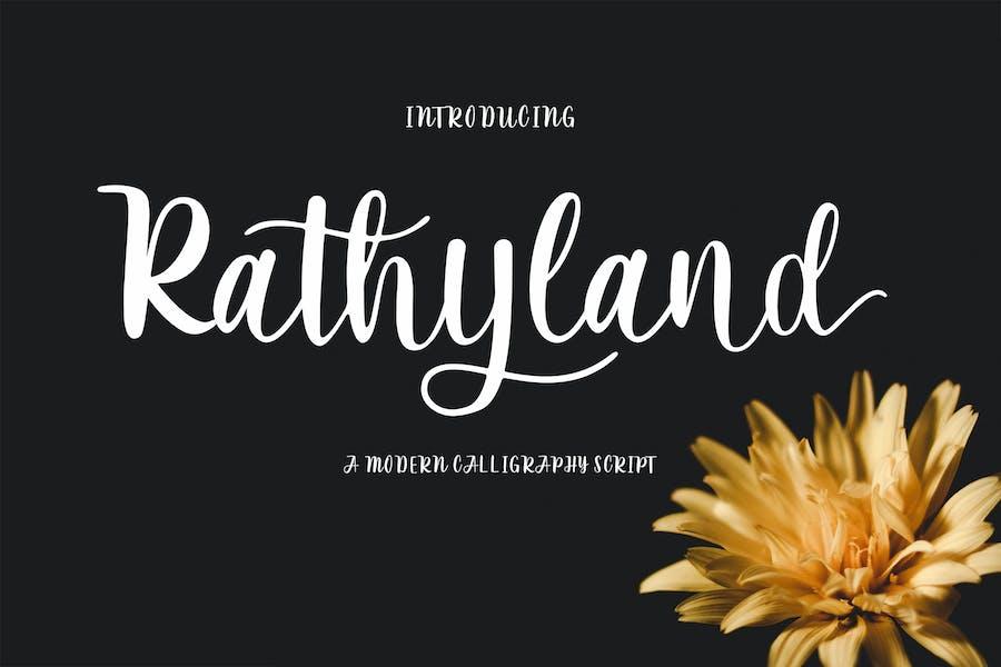 Rathyland Script Wedding Font