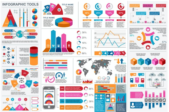 Thumbnail for Infographic Elements Set