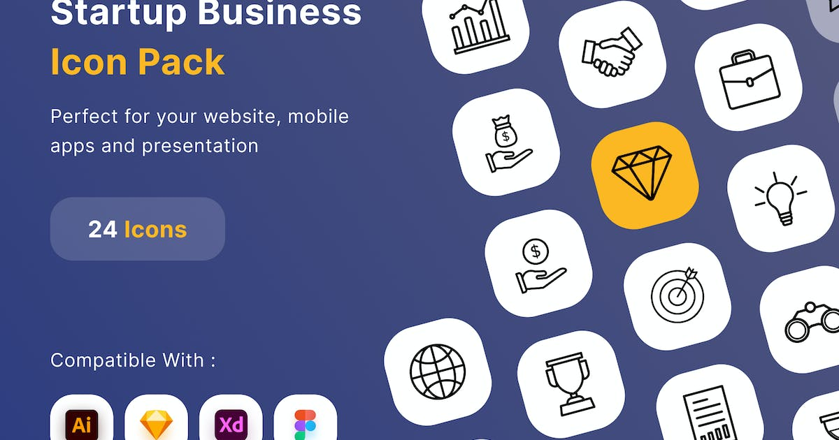Download Startup Business Icon Pack by DimoGraphic