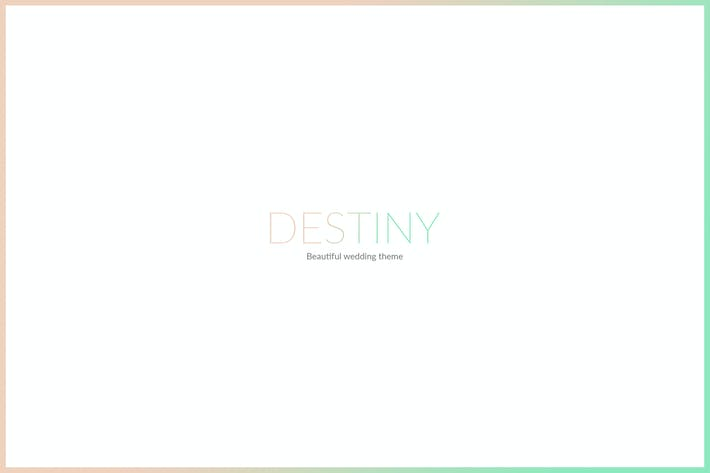Thumbnail for DESTINY - WEDDING HTML TEMPLATE
