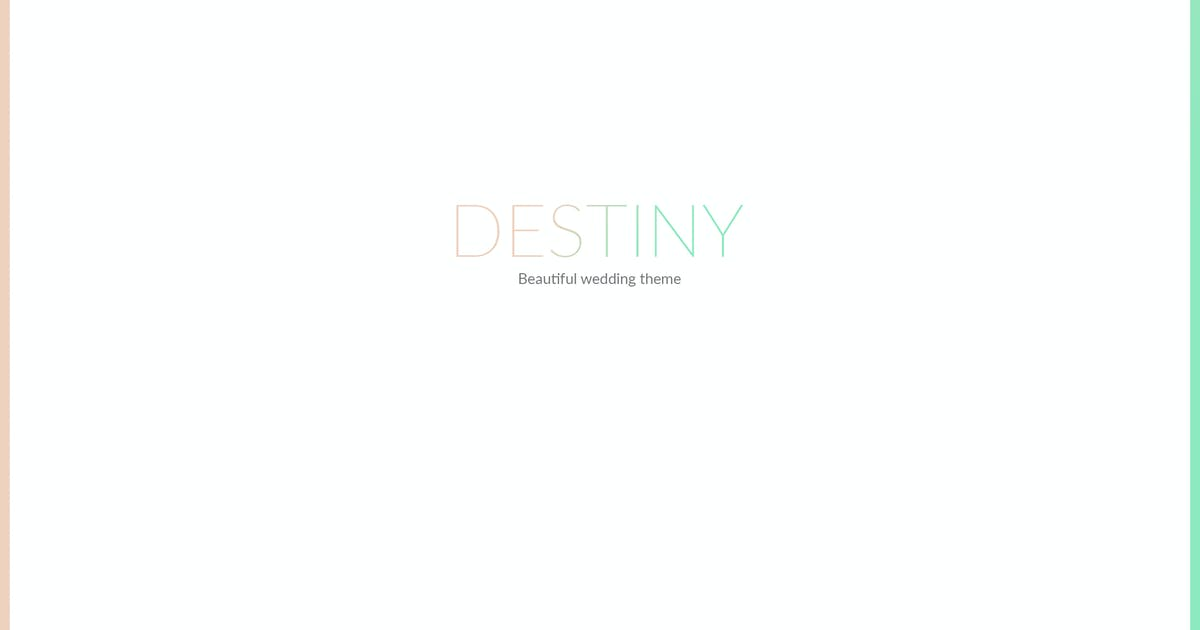 Download DESTINY - WEDDING HTML TEMPLATE by mutationthemes