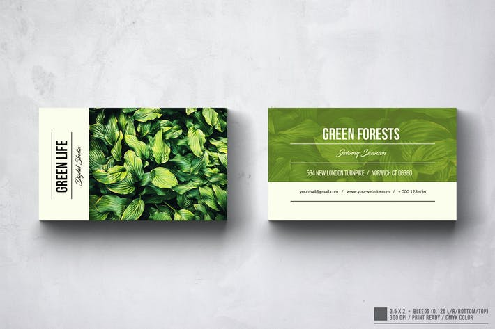 Thumbnail for Green Life Photography Design Carte de visite