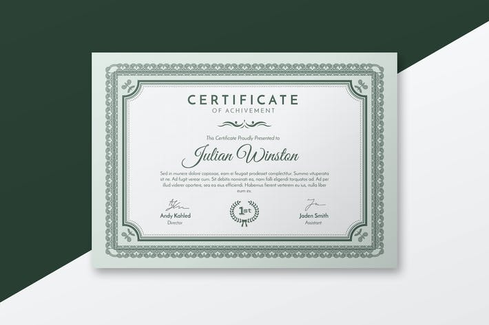 Cover Image For Elegant Certificate Template