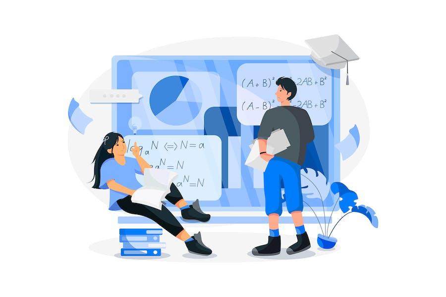 Online-Kurs Vektor Illustration-Konzept