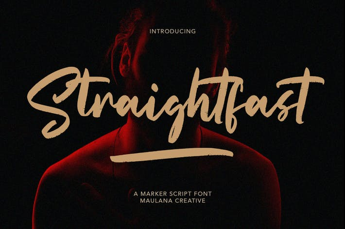 Straightfast Marker Script Font