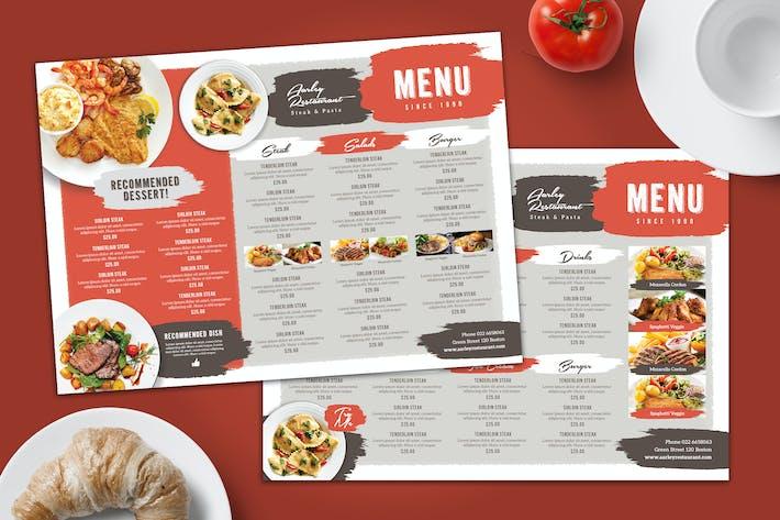 Thumbnail for Simple Brush Restaurant Menu Board