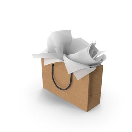 Craft - Bolsa de la compra con papel de regalo blanco