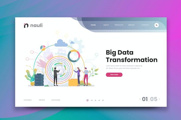 Thumbnail for Big Data Transformation Web PSD and AI Vector