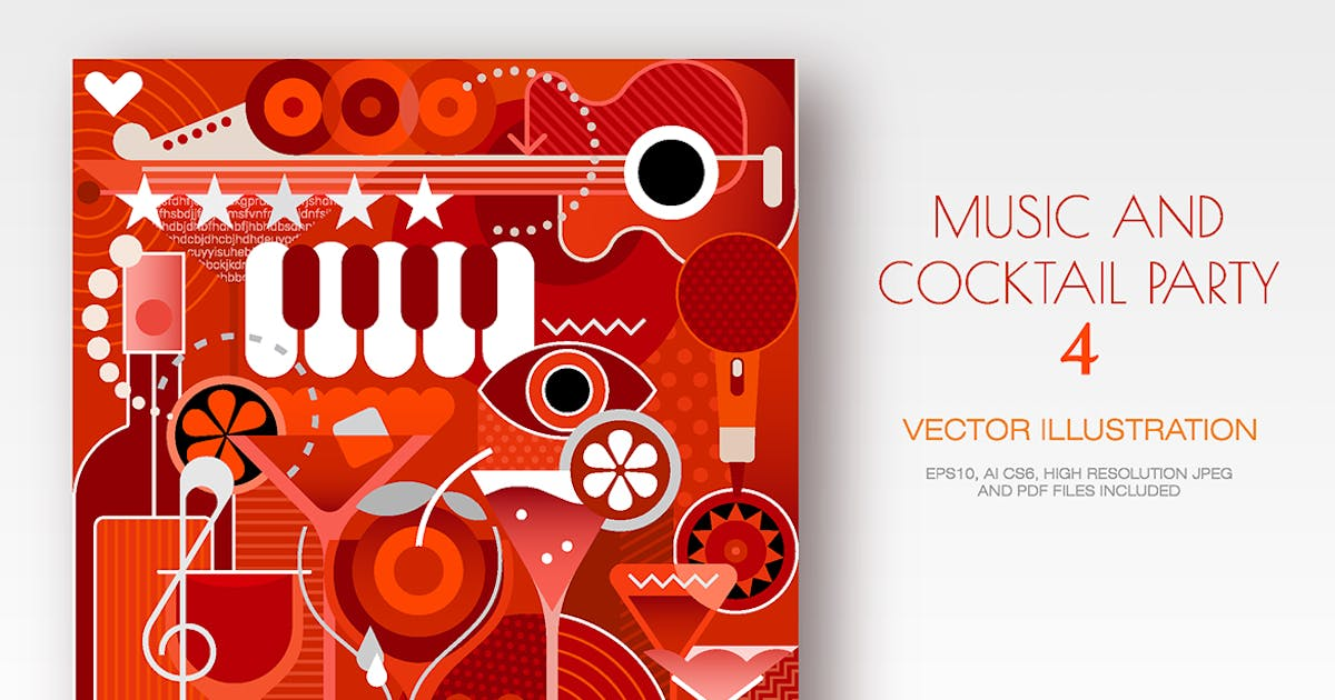 Download Music Festival and Cocktail Party vector artwork by danjazzia