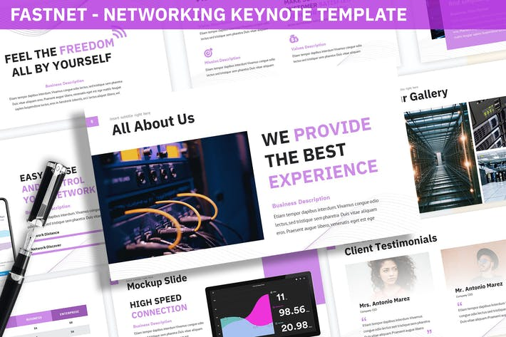 Thumbnail for Fastnet - Networking Keynote Template
