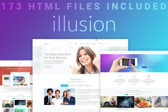 Thumbnail for illusion - Premium Multipurpose HTML Template