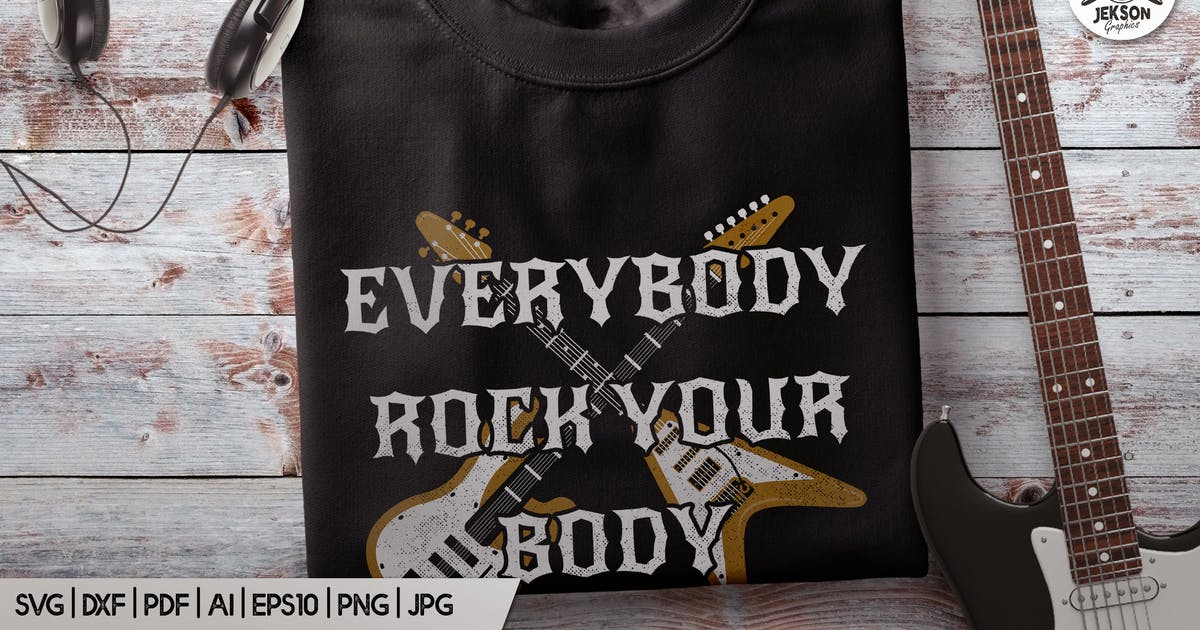 Download Music T-Shirt Everybody Rock Body Backstreet Print by JeksonJS