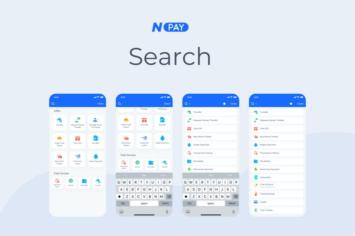 Cover Image For Search - Wallet Mobile UI - N