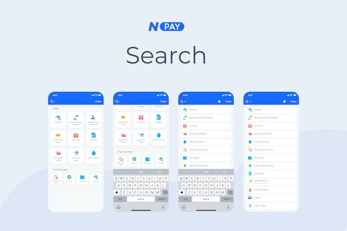 Search - Wallet Mobile UI - N