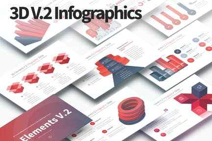 3D Elements V.2 - PowerPoint Infographics Slides