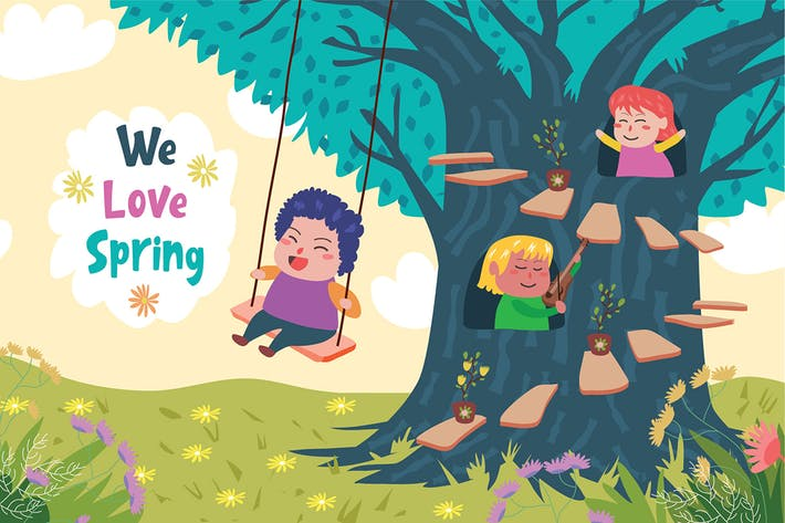 Thumbnail for Love Spring - Vector Illustration