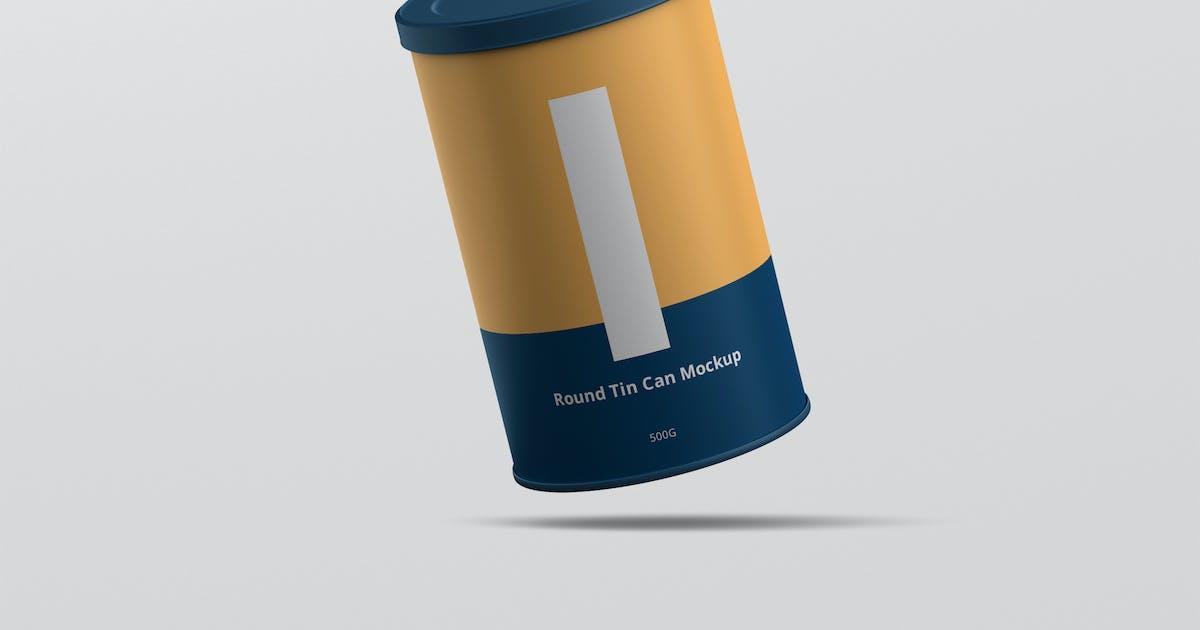Download Tin Can Mockup Round by visconbiz