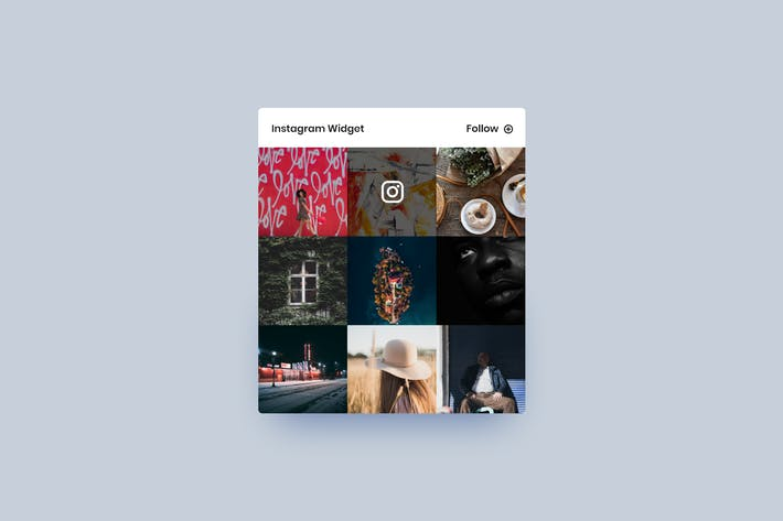 Thumbnail for Instagram Widget - Adobe XD