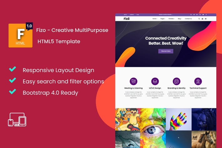 Thumbnail for Fizo - Plantilla Multipropósito HTML5 Creative