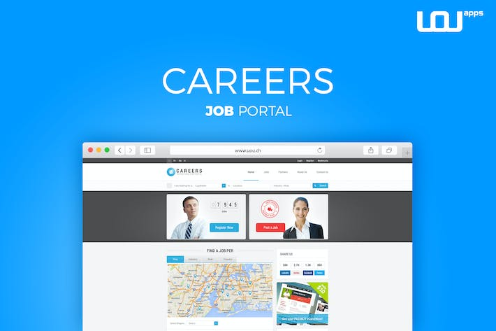 Thumbnail for CAREERS - JOB PORTAL  & CANDIDATES DB TEMPLATE