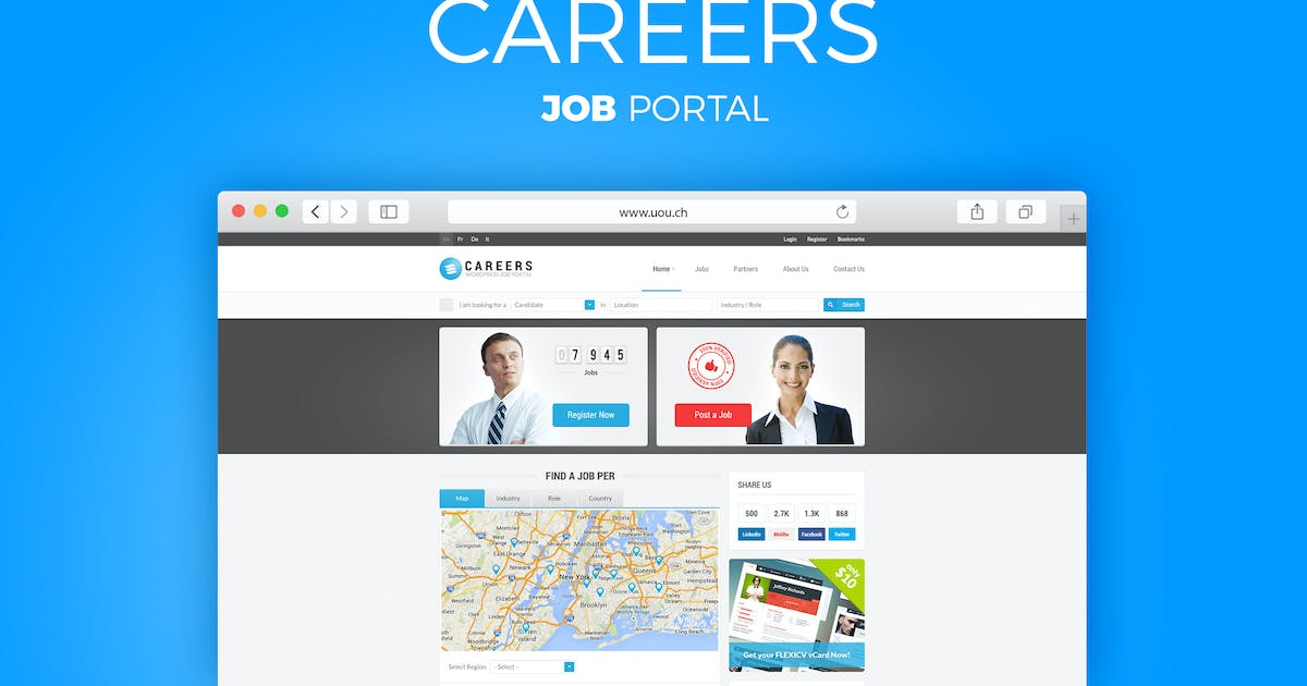 Download CAREERS - JOB PORTAL  & CANDIDATES DB TEMPLATE by DirectoryThemes