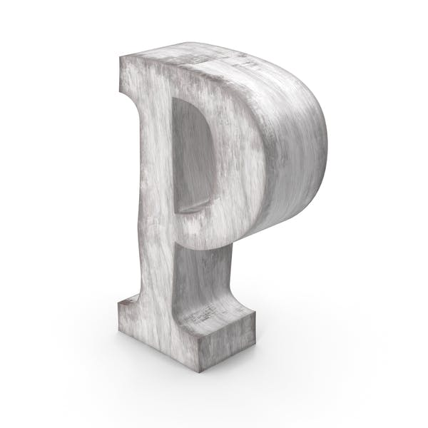 Wooden Decorative Letter P