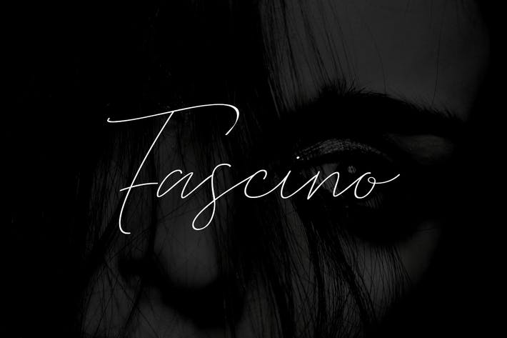 Thumbnail for FASCINO - Handmade Luxury / Signature Typeface