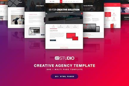 69Studio Creative Agency HTML5 Template