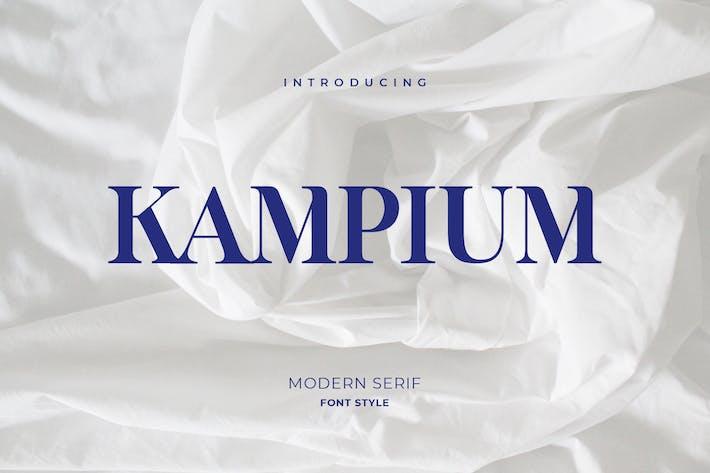 Thumbnail for Kampium Serif Font