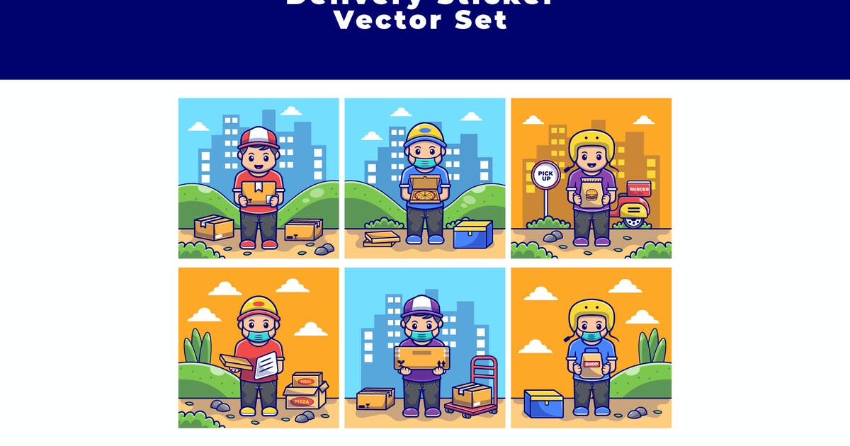 Download DELIVERY STICKER SET by SecondSyndicate