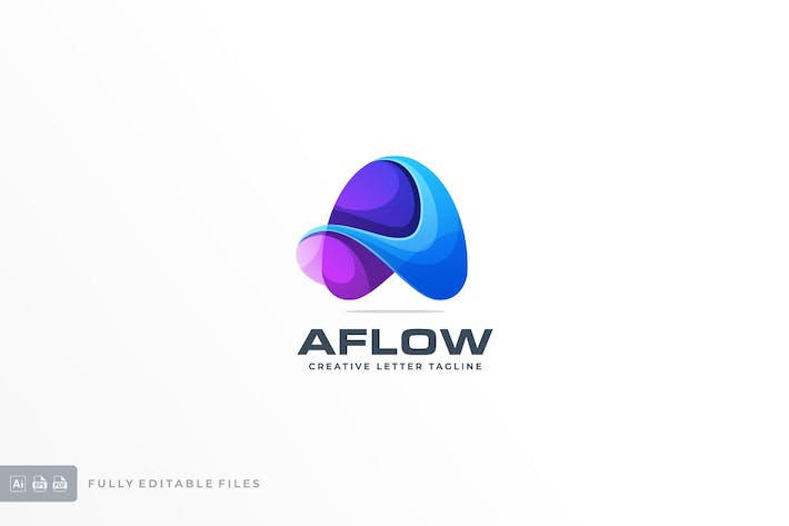 Thumbnail for Abstract Letter Colorful Logo Template