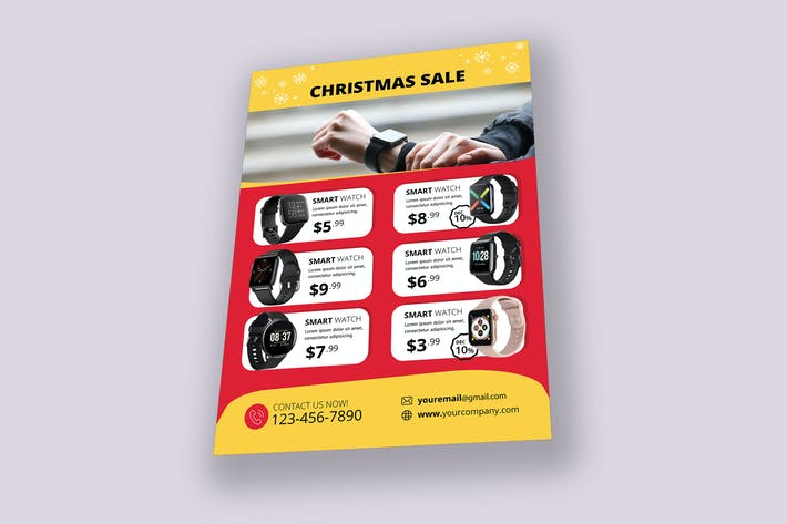 Thumbnail for Smart Watch Christmas Sale Flyer