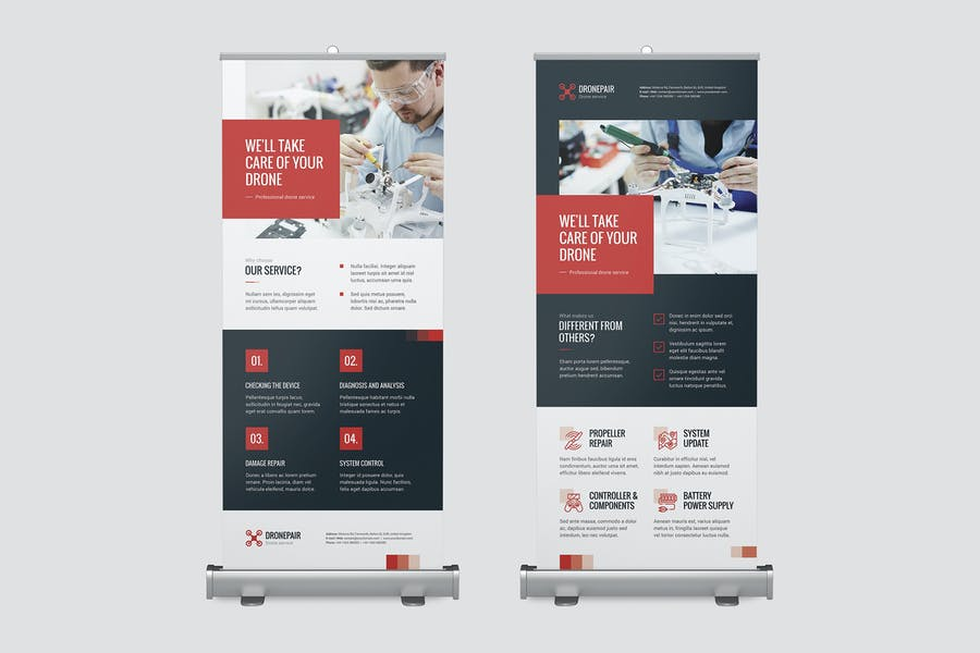 Roll Up Banner – Drone Service