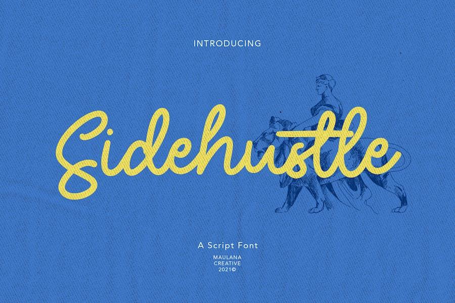 Sidehustle Vintage Script Font