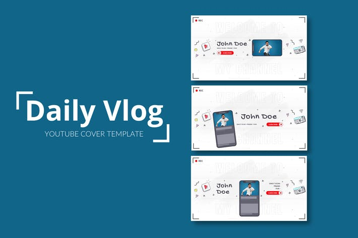 Daily Vlog – Youtube Cover Template Pack