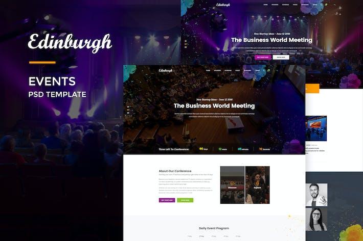 Thumbnail for Edinburgh : Events Web Template