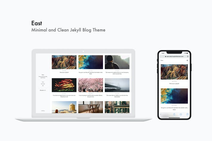 Thumbnail for East - Minimal and Clean Jekyll Blog Theme