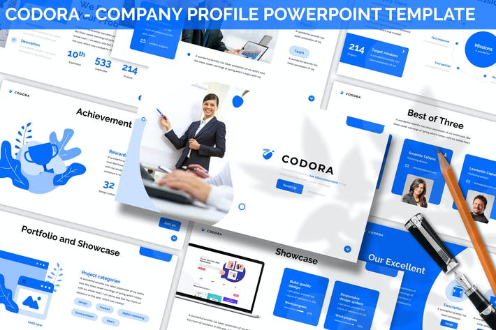 Thumbnail for Codora - Company Profile Powerpoint Template
