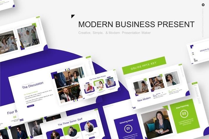Thumbnail for Modern Business Presentation Template