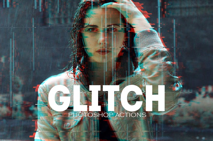 Thumbnail for Glitch Photoshop PSD Actions