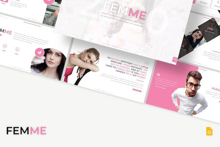 Thumbnail for Femme - Google Slides Template