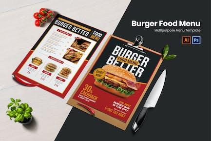 Burger Better Food Menu