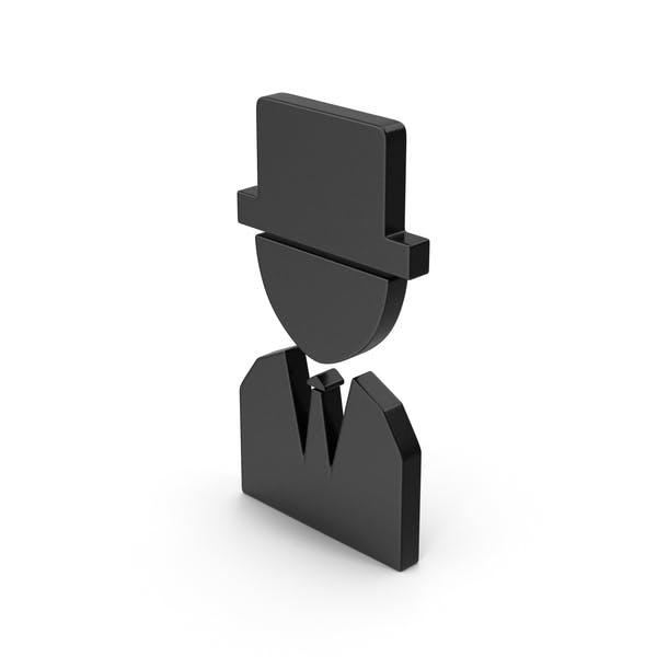 Символ черный человек