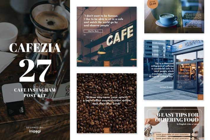 Thumbnail for CAFEZIO - Instagram Post Kit