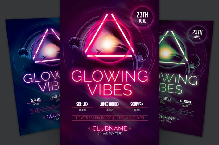 Thumbnail for Glowing Vibes Flyer